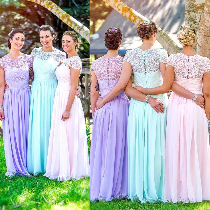 Nice Pastel Colour Bridesmaid Dresses Component