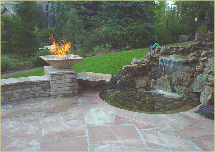 Fire and water outdoor fire features pinterest for Fire and water features