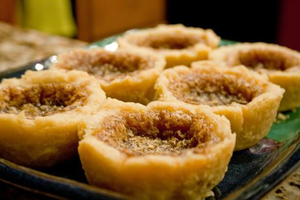 Butter Tart Filling from Food.com: A perfect buttery sweet filling makes these irresistable! Passed down by my great Aunt who was French Canadian. She cooked with approximate measures, so these amounts may vary to taste.
