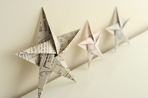 unusual handbags 5 pointed origami star Christmas ornaments   step by step instructions