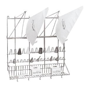 Pastry Bag and Tip Drying Rack - Stainless Steel