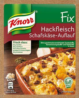 KNORR Fix für Hackfleisch Schafskäse-Auflauf