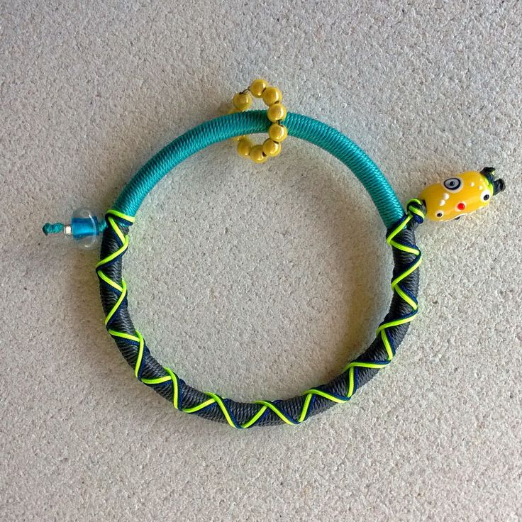 "Winter 2014 Casual collection ""Evil Eye"" yellow eye grey-turquoise"