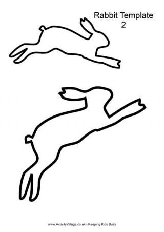 Leaping Rabbit Template...lots of free Easter and animal templates on this site.