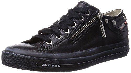 Diesel Expo-Zip Low Black Grey Leather Mens Trainers Shoes-11 - http://on-line-kaufen.de/diesel/45-eu-11-uk-12-us-diesel-expo-zip-low-schwarz-grau-lo