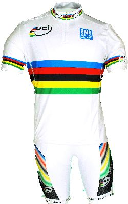 WORLD CHAMPION RAINBOW JERSEY made in Italy by Santini
