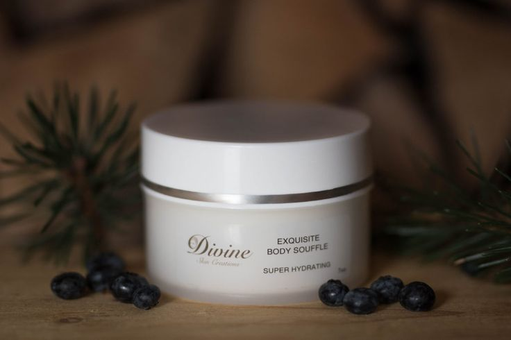Exquisite Body Soufflé - This unique Super Hydrating body cream with vitamins, flower extracts, and 8 essential oils will have a beautiful and amazing effect on your skin. The glow and lasting hydration will wipe away the dry scales and dull, aged appearance. You will love the healthy, smooth look and feel. | Divine Skin Creation's Product