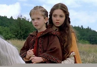 """Morgaine & Arthur as Children in """"The Mists of Avalon"""", 2001"""