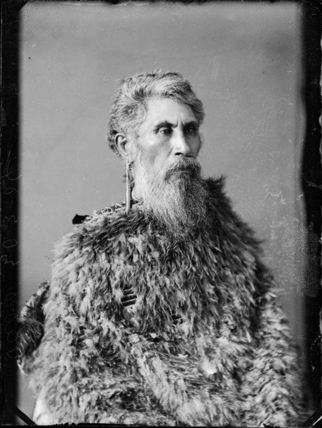 Paora Rerepu in a Maori feather cloak, Samuel Carnell of Napier 1832-1920…