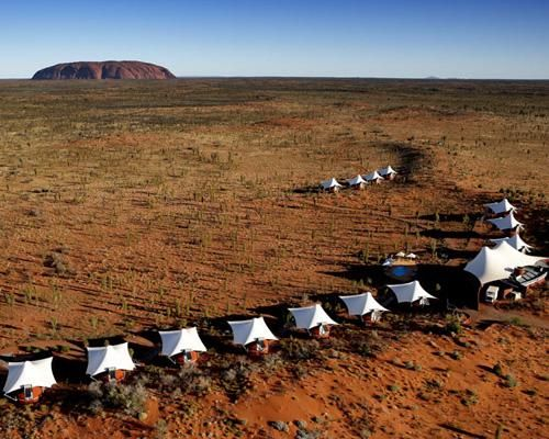 """Longitude 131 in #Australia's Northern Territory consists of 15 #luxury """"tents"""" near Ayers Rock, and it's one of the greenest luxury #resorts around."""