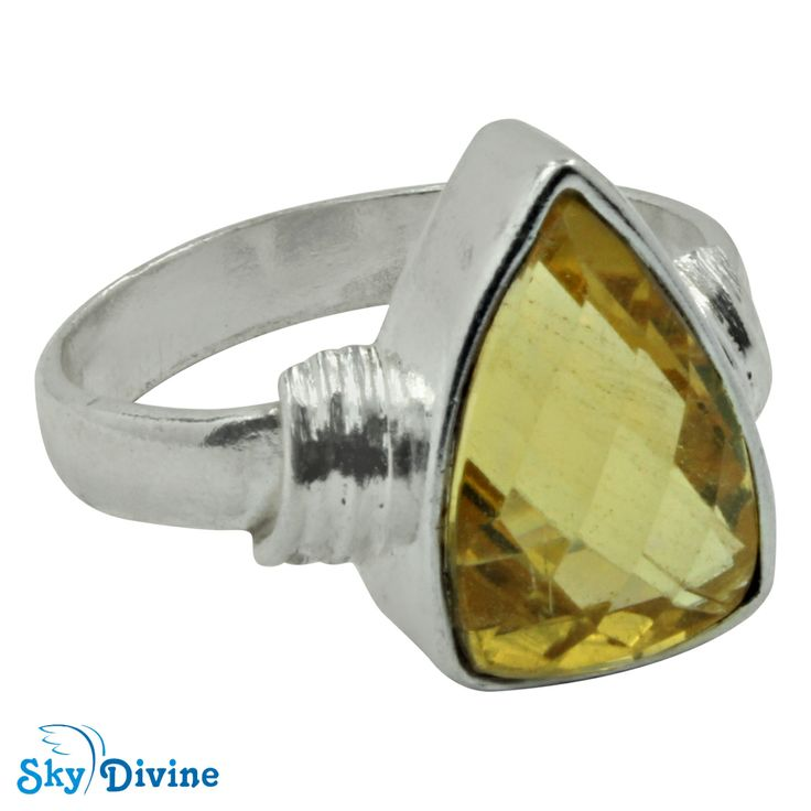 No dress to wear for a big night party? The small black dress ill surely look grand with this huge citrine silver ring. Pick the right accessory and be beautifully dressed anytime. Click pic to buy online authentic Sky Divine | 925 Sterling Silver Citrine Ring Size 8.5 US, $55.95