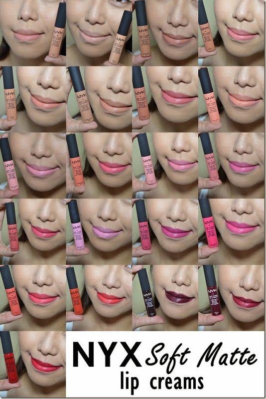NYX Soft Matte Lip Creams swatches by Say Artillero