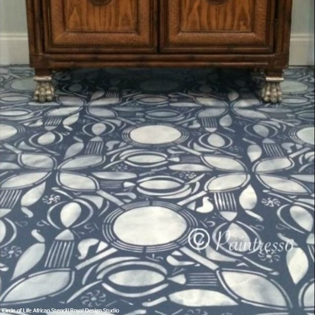 317 Best Stenciled Amp Painted Floors Images On Pinterest