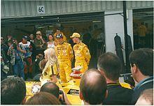 Photo de Damon Hill et Ralf Schumacher au Grand Prix de Grande-Bretagne 1998