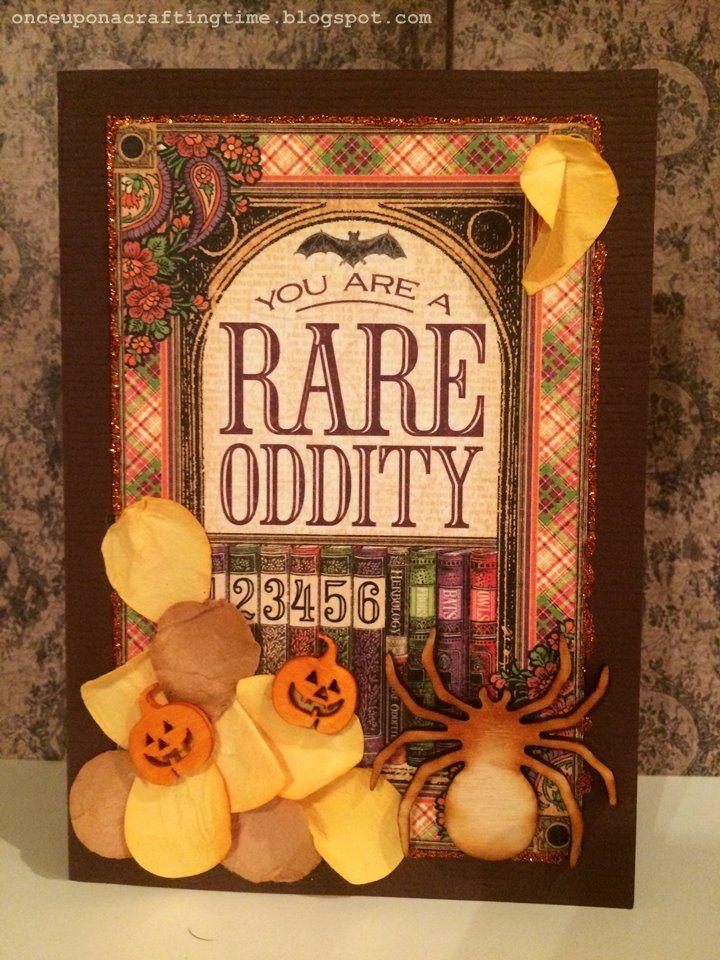 Rare Oddities Graphic 45 Halloween greeting cards