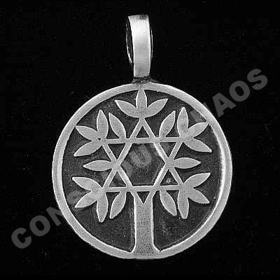 Tree of Life w/ Star of David Kabbalah Pendant