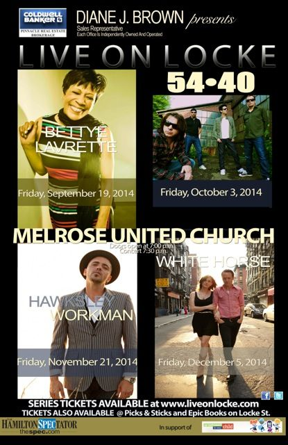3rd Annual Live on Locke Concert Series - Hamilton, ON Friday, September 19, 2014 - Tickets available at: http://www.ticketscene.ca/events/10788