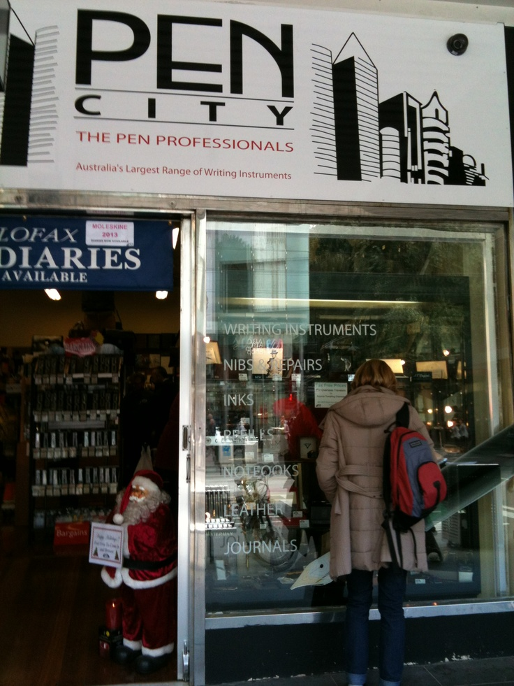 Great shop for everything pens and pencils. Staff really helpful and know their stuff.  Elizabeth Street, Melbourne