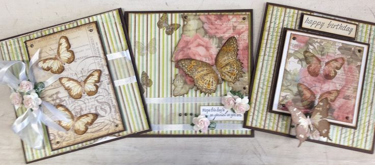 Ink2Paper - This lovely set of cards are made with Kaisercraft papers and a set of Darkroom Door stamps