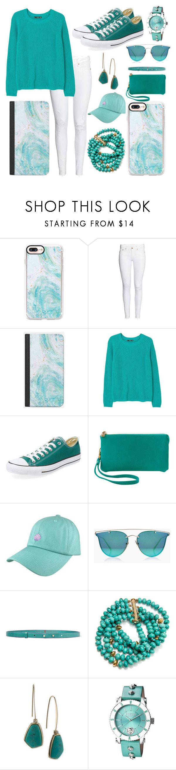 """turquoise/teal"" by gatelyhawkins ❤ liked on Polyvore featuring Casetify, MANGO, Converse, Humble Chic, Boohoo, M Missoni, Lauren Ralph Lauren and Versus"