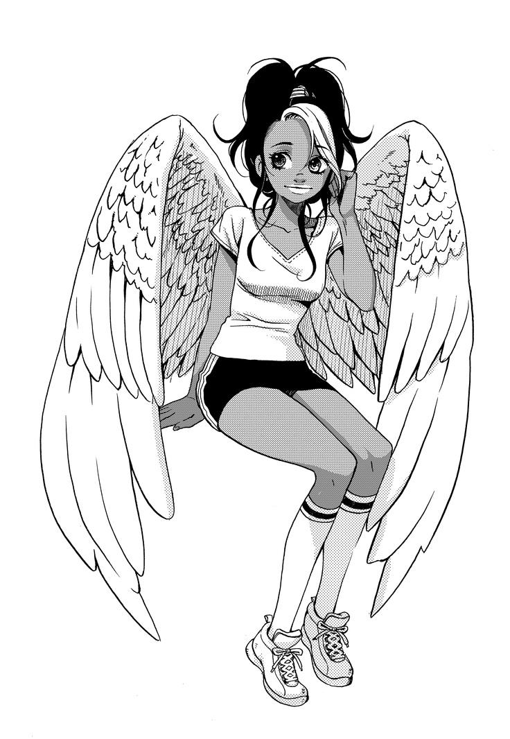 Character design for Nudge, of the Maximum Ride manga series.