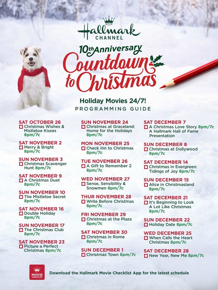 Hallmark's 2019 Christmas Movie Lineup Will Air Starting