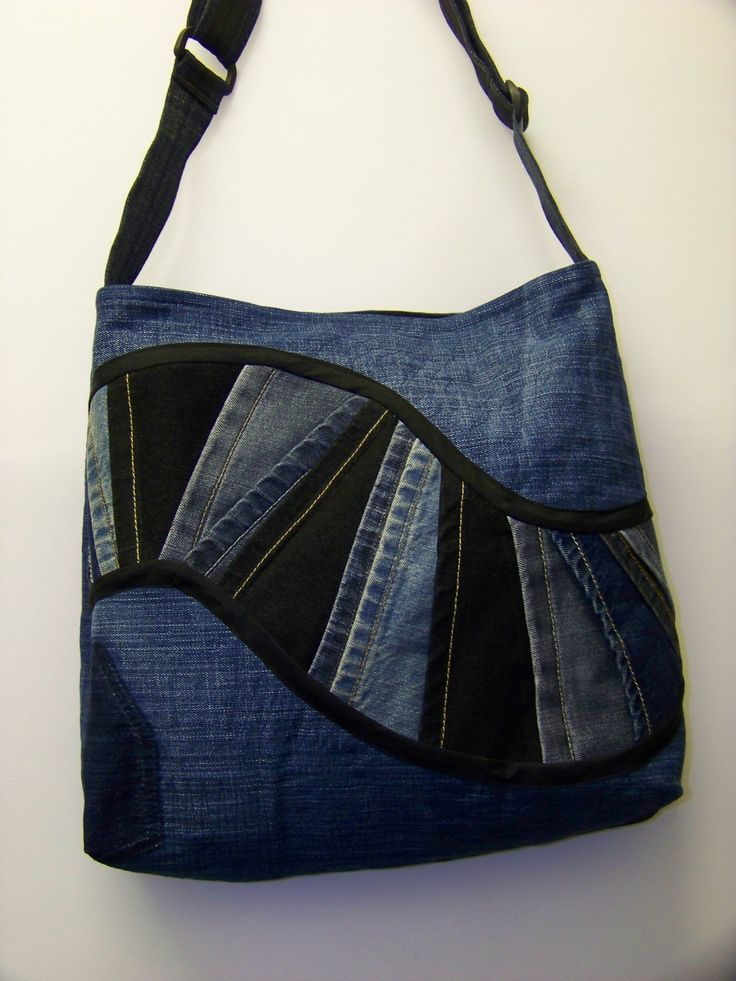 Another great design for an upcycled denim bag