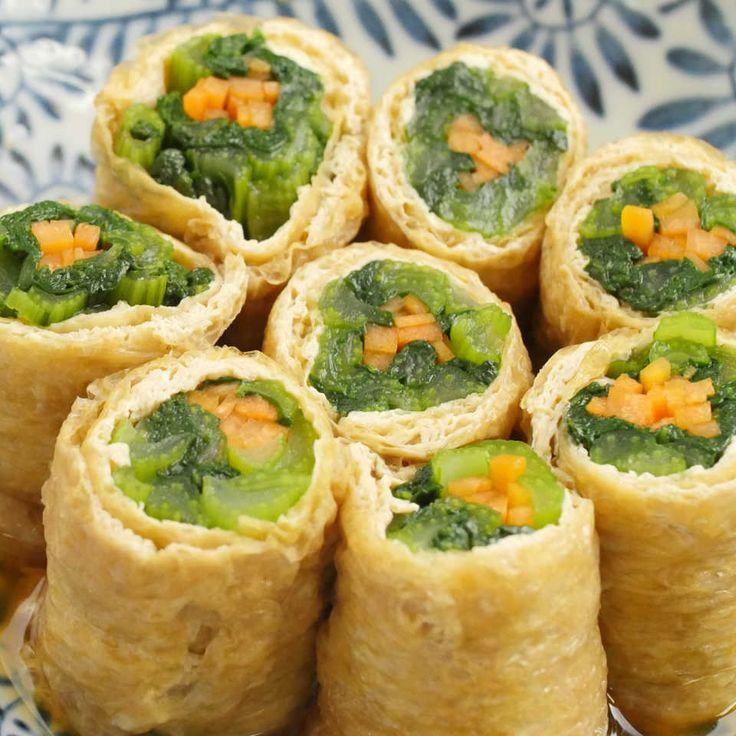 お出汁でほっこり煮浸し風「小松菜と油揚げのおひたし巻き」レシピと作り方を動画で紹介します。下茹でした小松菜とにんじんを、油揚げで巻いてだし汁に浸すだけ。いつもの食材にひと手間加えて、見た目も華やかでほっこり優しい味の料理を作ってみませんか?