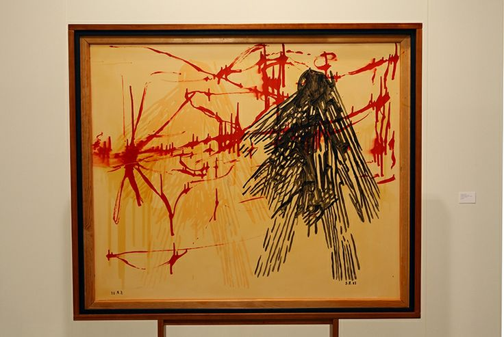 Sigmar Polke; Transparent Nr. 4; 1988. Acrylic and artificial lacquer on fabric; 110 x 130 cm.