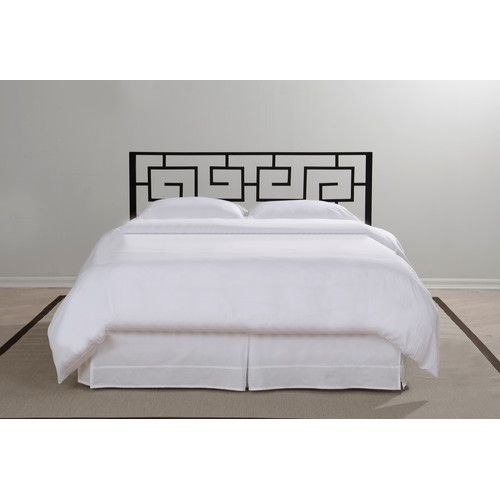 found it at wayfair greek key metal headboard twin bed