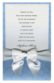 A Walk on the Wild Side Blue with White Bow Pocket Invitations