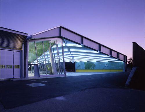 Bus terminal Baden-Rütihof, Switzerland by Knapkiewicz & Fickert.