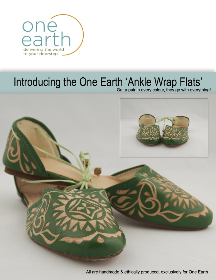 The One Earth Ankle Wrap Flat!!  Looove!  #handmade #artisan #leather #spring #anklewrapflat