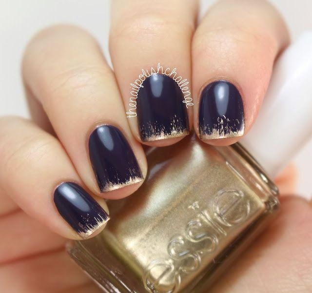 New Years Nail Polish: New Year's Grungy French Manicure (The Nail Polish