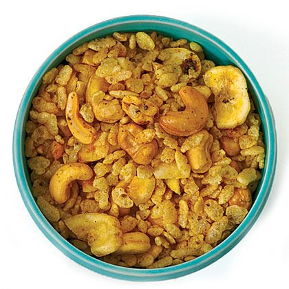 Spicy Indian Snack Mix by Sunset Magazine. 15 minutes. Just the thing for watching Bride and Prejudice.
