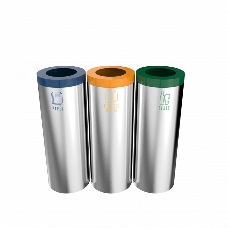 STELLA SST - Office style stainless steel recycling bins