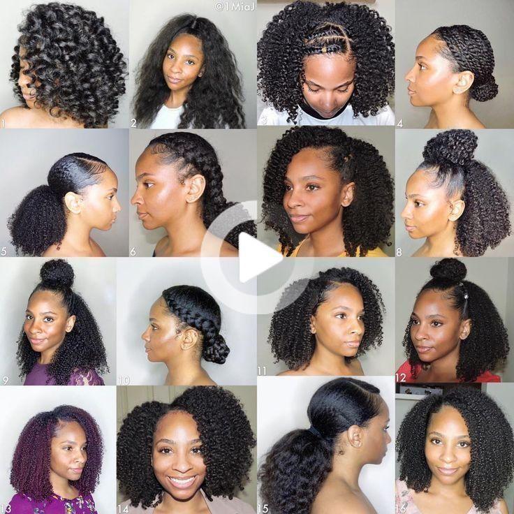 Cheveux Crepus Naturels Nappy Chignon Sur Cheveux Naturels Coiffure Cheveux Naturels Idee Coiffure Cheveux Crepus Natural Hair Styles Easy Curly Hair Styles Naturally Natural Hair Styles