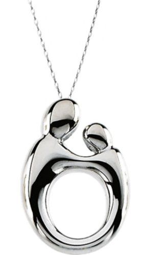 14k White Gold Mother and Child Necklace, 18″ http://www.easterdepot.com/14k-white-gold-mother-and-child-necklace-18/ #easter  The special relationship that exists between mother and child requires a special design. Janel Russell's classic Mother and Child® design has become the definitive and most successful expression of this bond for the past 25 years. This unique Mother and Child Necklace is beautifully finished in luxurious, polished 14K White Gold. It has a hidden bail on back,..