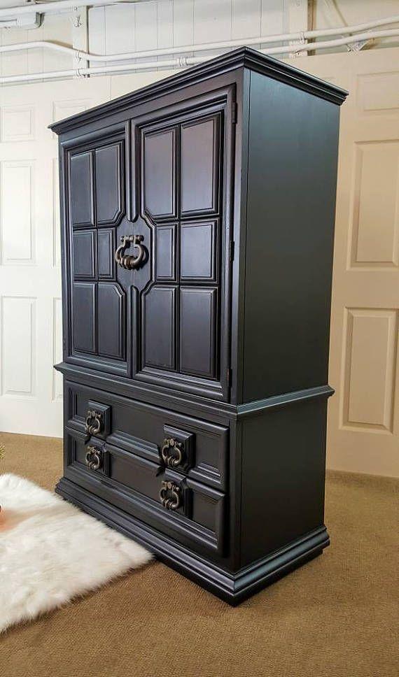 Black armoire Thomasville Dresser / Chest / wardrobe