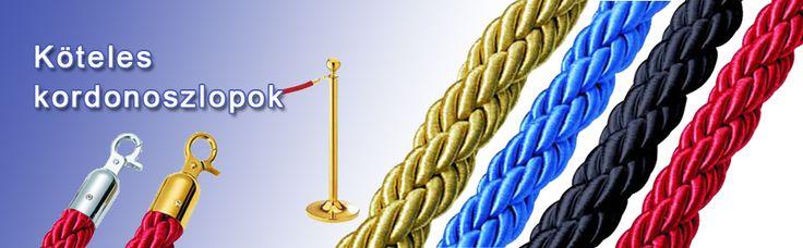 Köteles kordonoszlopok elegáns megjelenésűek.  http://kordonoszlop.ajandeksugo.hu/