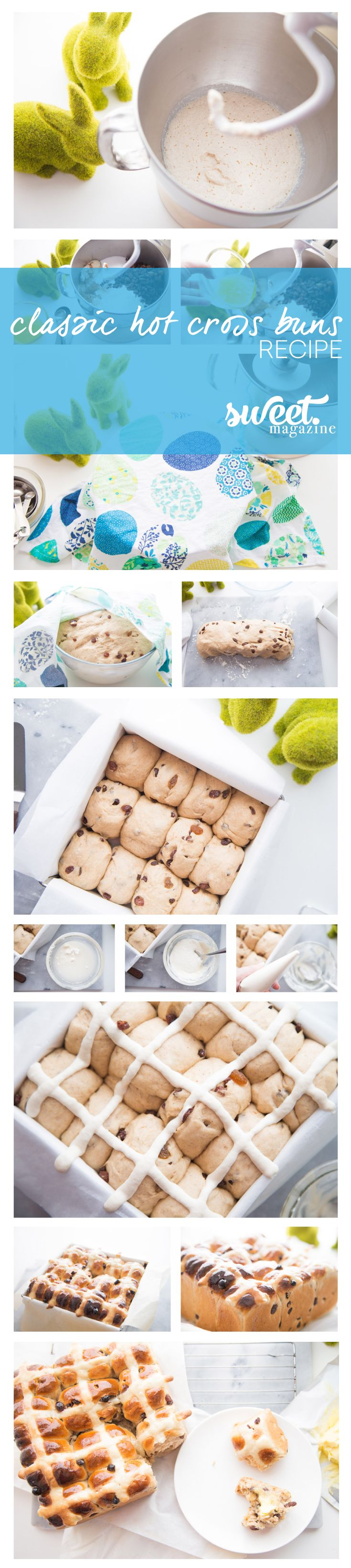 Classic Hot Cross Buns from Sweet Magazine - you really need to try these!