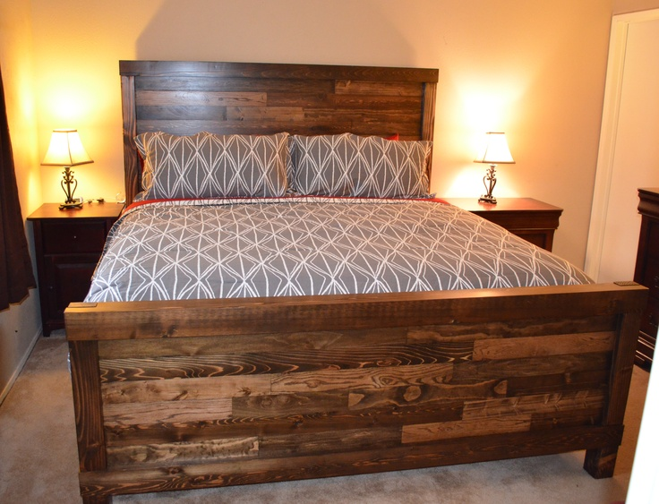 handmade king size farmhouse bed Bed plans, Bed