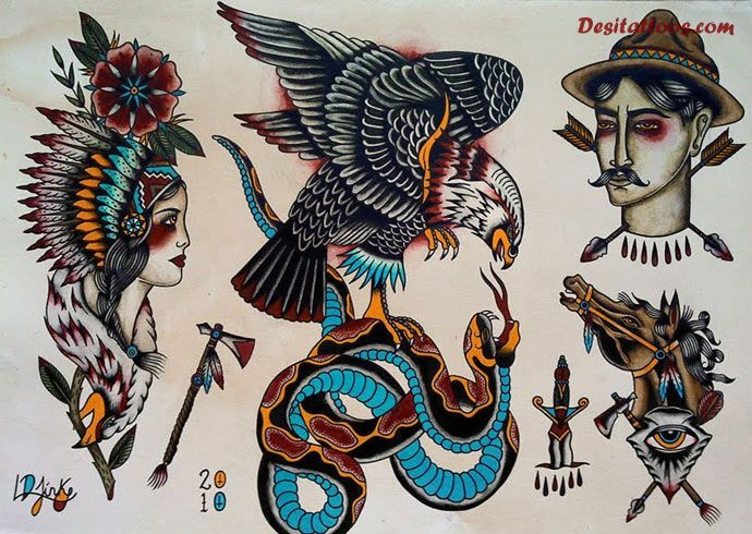 traditional tattoo flash wallpaper - photo #16