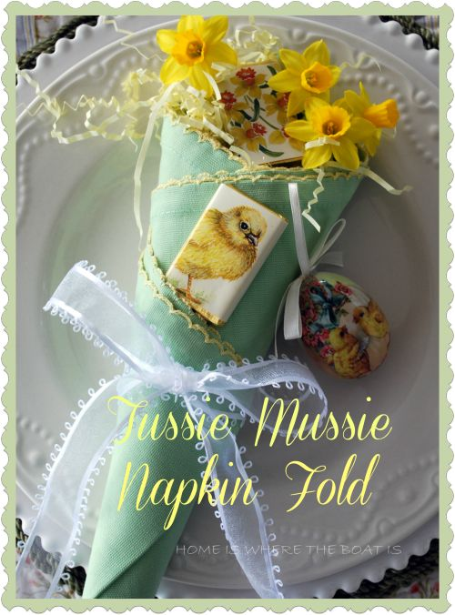 How to: Tussie Mussie Napkin Fold