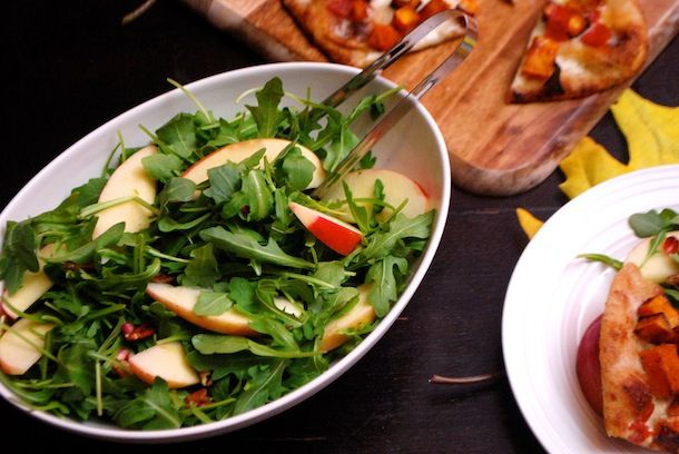 salad with apples & pecans, carrot-ginger dress. Amazing fall flavors! #partycrafters