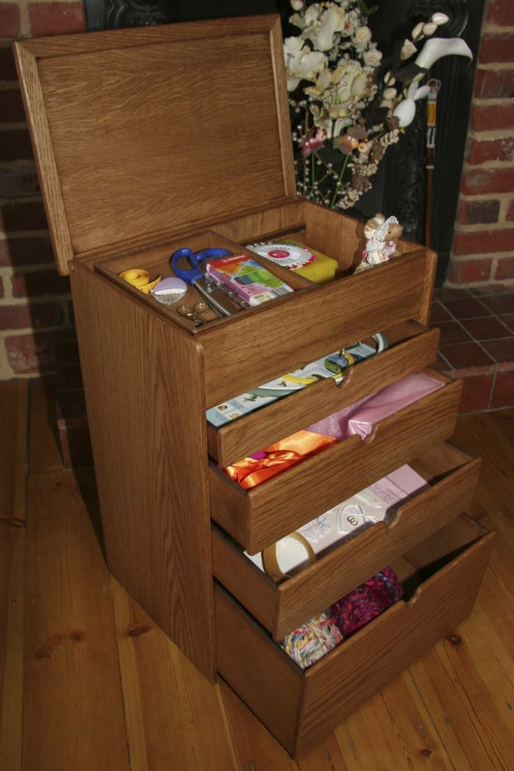 This is the smaller version of the Oak Wooden Sewing box range. This is a more compact version that does not compromise on storage capacity  https://www.justwhatuwant.co.uk/product/small-handmade-oak-wooden-heirloom-sewing-box-or-workbox/