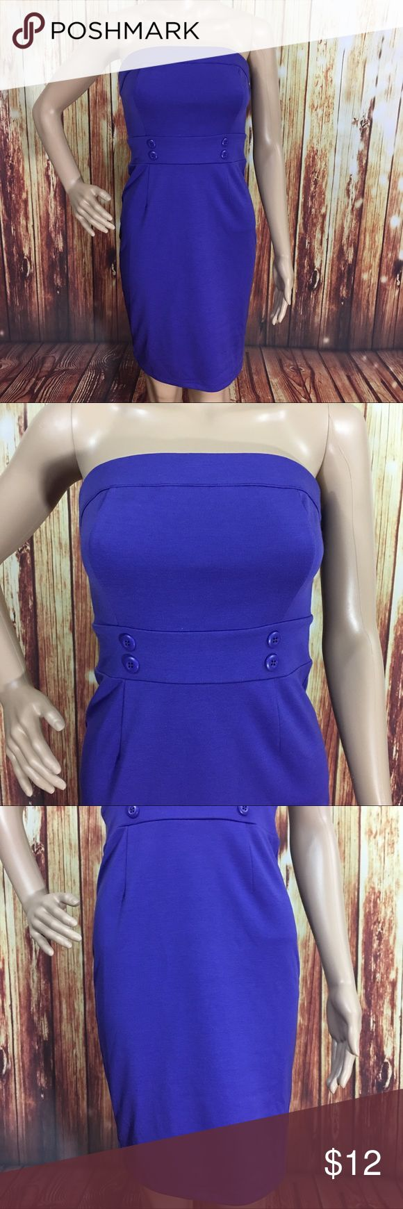 """Forever 21 purple Strapless Bodycon dress Zip Up Purple Bodycon dress by forever 21. Zips up in the back. In great condition, has been gently used. Length: 30"""" bust: 30-35"""" . Dress is very stretchy and will hug your body . Forever 21 Dresses Mini"""