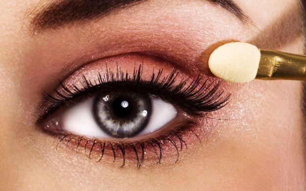Розовый макияж для серых глаз ::: onelady.ru ::: #makeup #eyes #eyemakeup