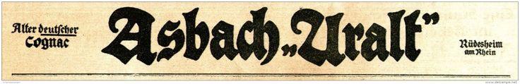 Original-Werbung/ Anzeige 1917 - ASBACH URALT  - ca. 240 x 35 mm