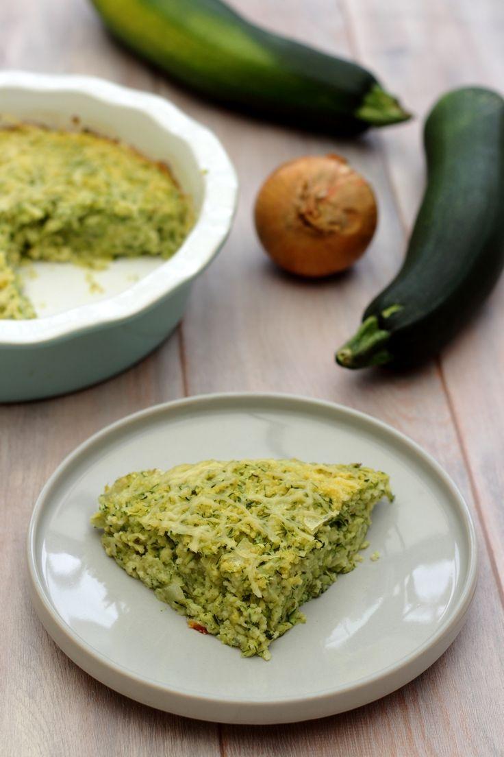 Gâteau de semoule salé: courgettes et oignons - 6SP Weight Watchers